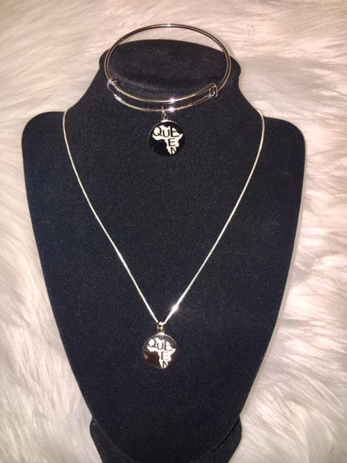 Queen Silver - Necklace & Bracelet