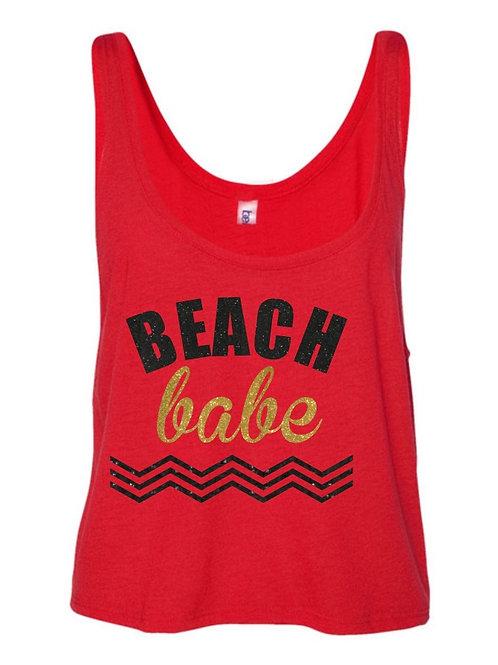 Beach Babe Tank -Red