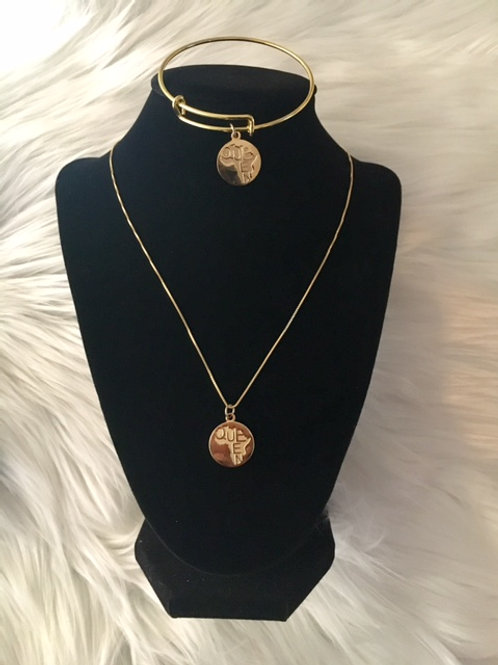 Queen Gold - Necklace & Bracelet