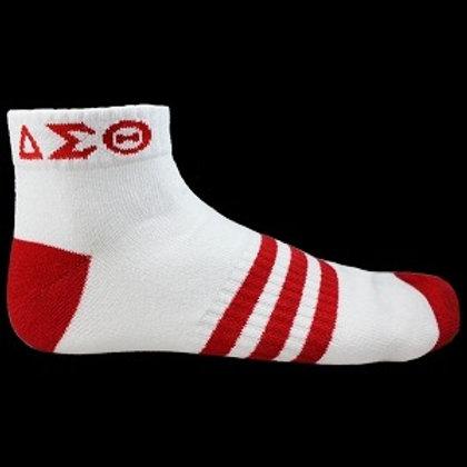 Delta Sigma Theta Ankle Socks White