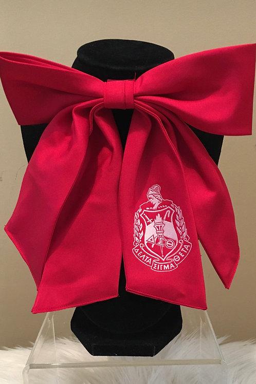 Crest Bow Tie - Crimson