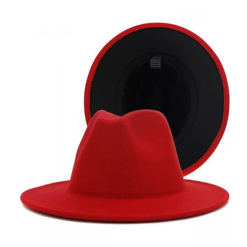 Fedora - Red with Black Bottom