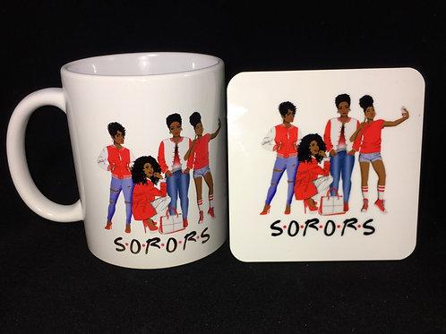 Sorors Inspired Mug and Coaster Set