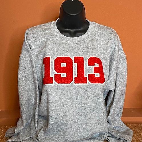 1913 Chenille Sweatshirt Gray/Black