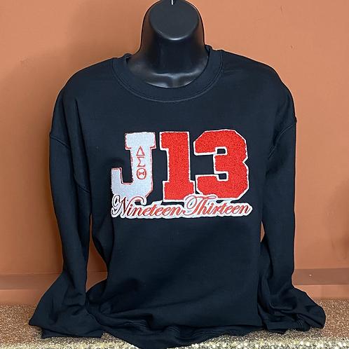 J13 Chenille Sweatshirt - Black