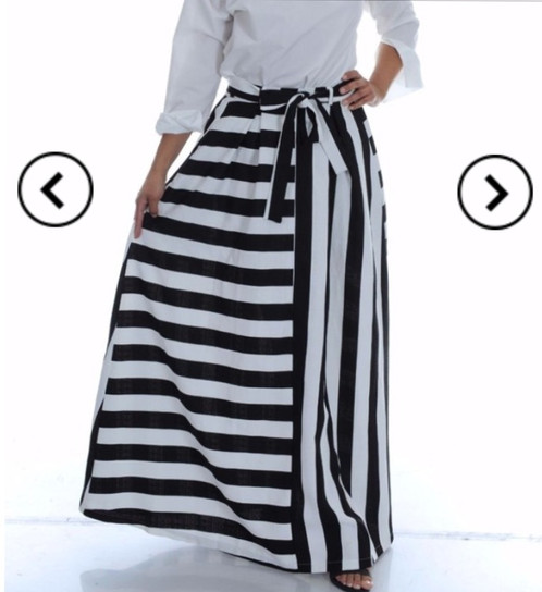 Black and White Striped Maxi Skirt | My Diva Boutique