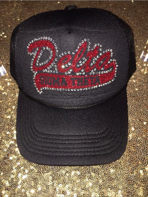 Delta Sigma Theta Glitter Rhinestone Snapback