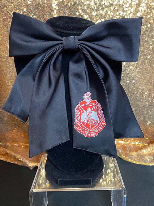 Crest Bow Tie - Black
