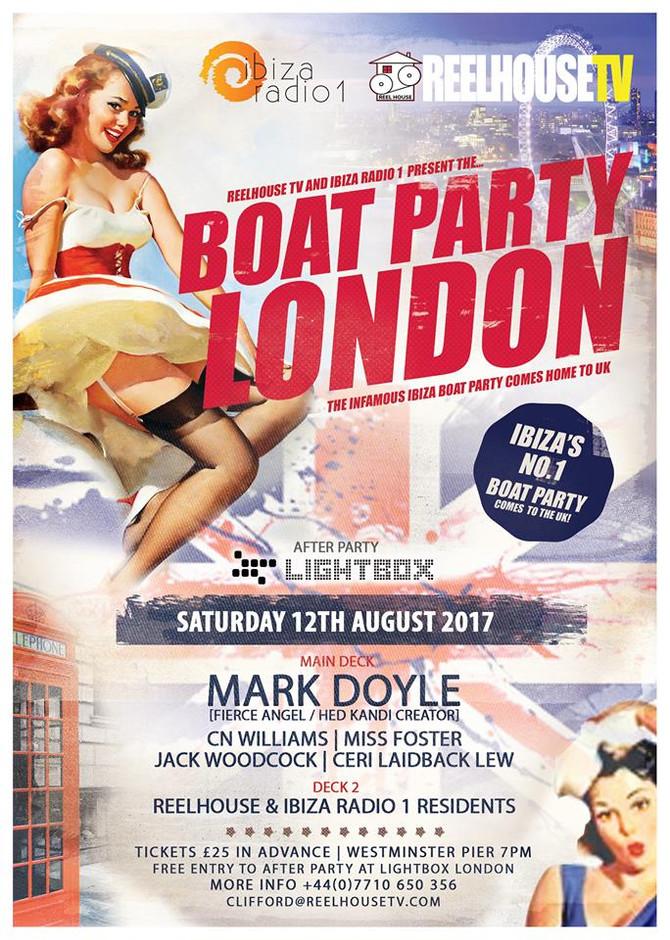 The ReelhouseTV & Ibiza Radio 1 Boat Party comes to the UK