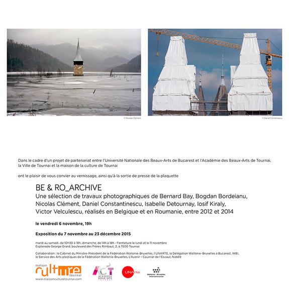Après Bucarest, l'expo Be & Ro Archives s'installe à Tournai (Be)