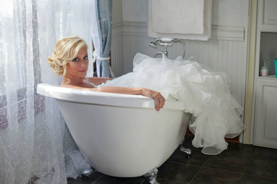 Bride in the tub