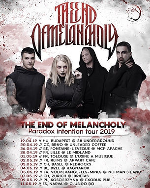 The End of Melancholy tour