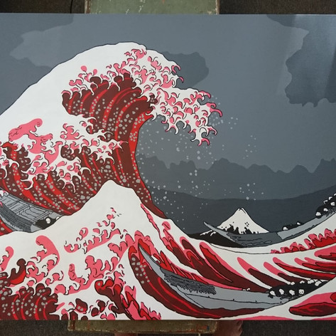 The Great Wave Red