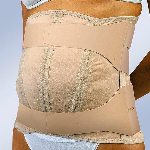 Faja sacrolumbar abdomen péndulo, semirrígida y cierre velcro
