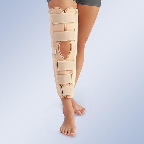 Ortesis inmovilizadora de rodilla de tres paneles a 0º