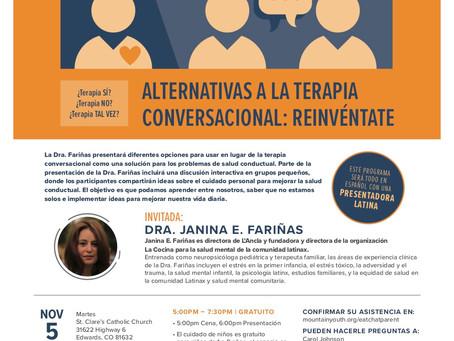 """Mountain Youth nos habla sobre su taller inaugural en español de """"Eat Chat Parent"""" sobre el cuidado"""