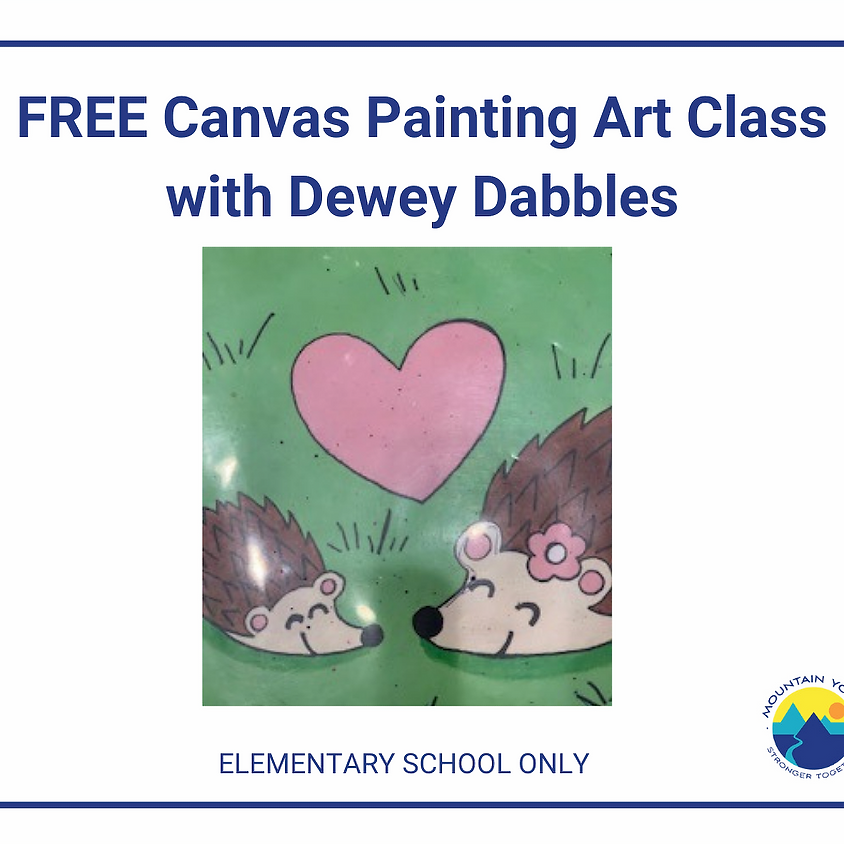 FREE Virtual Canvas Painting Art Class with Dewey Dabbles