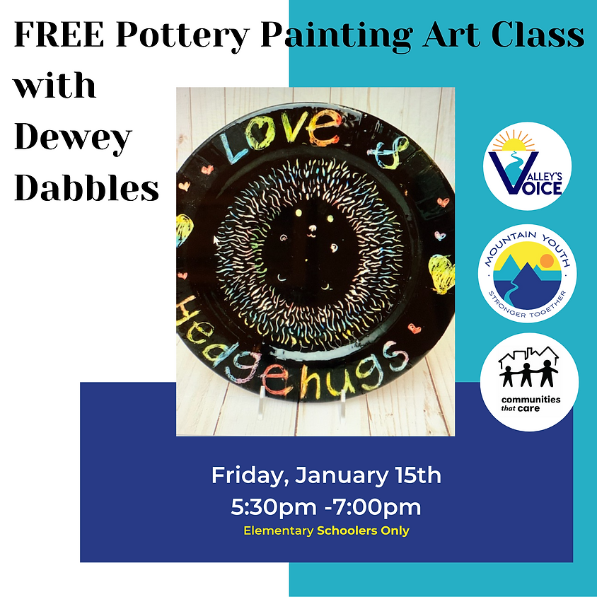 FREE Virtual Pottery Painting Class with Dewey Dabbles