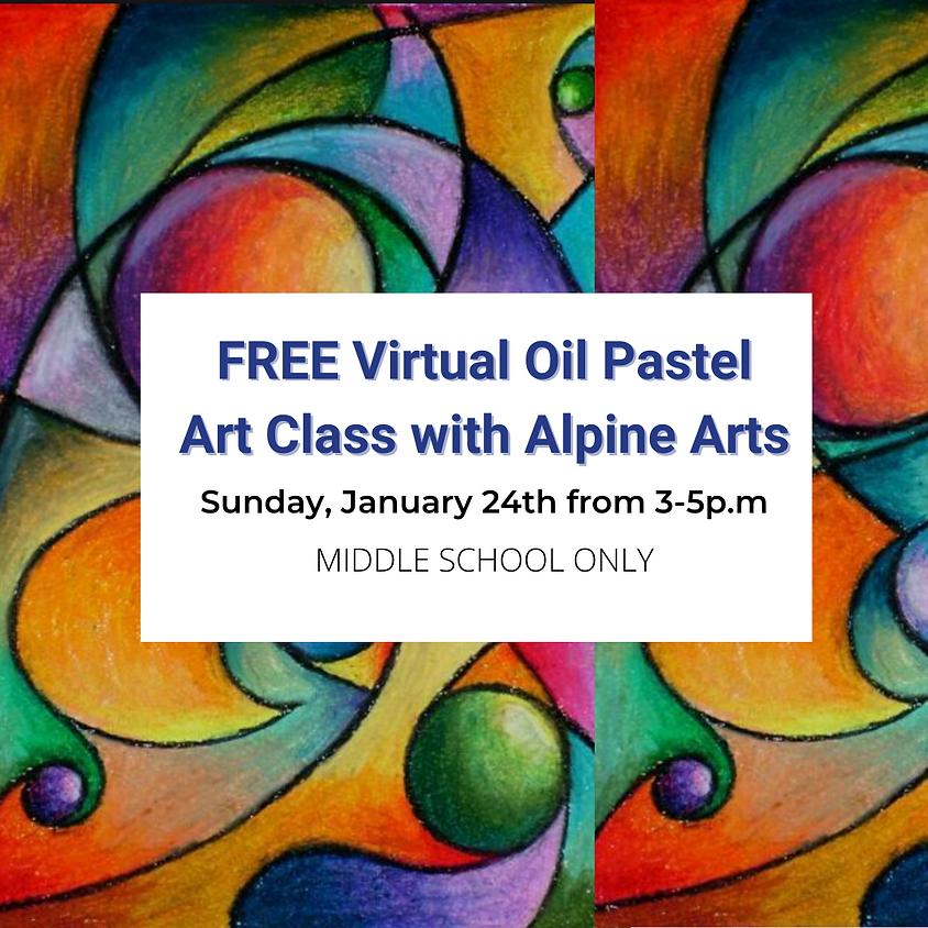 FREE Virtual Oil Pastel Art Class with Alpine Arts