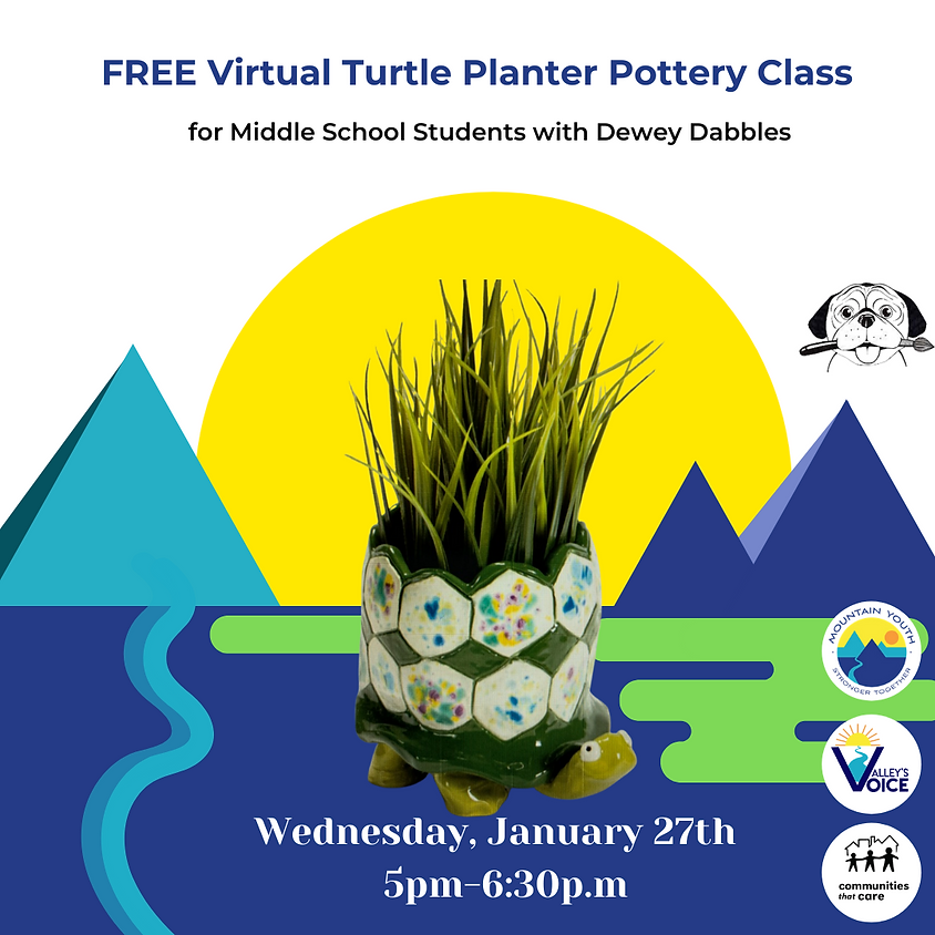 FREE Virtual Pottery Class with Dewey Dabbles
