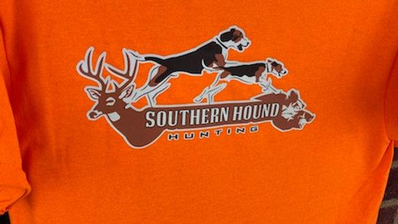 Safety orange Southern Hound Hunting Logo