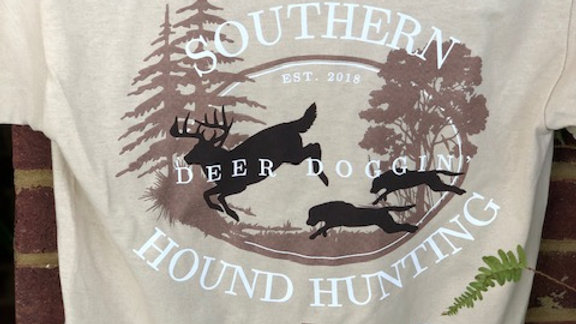 Youth Deer Doggin' Shirts Light Tan