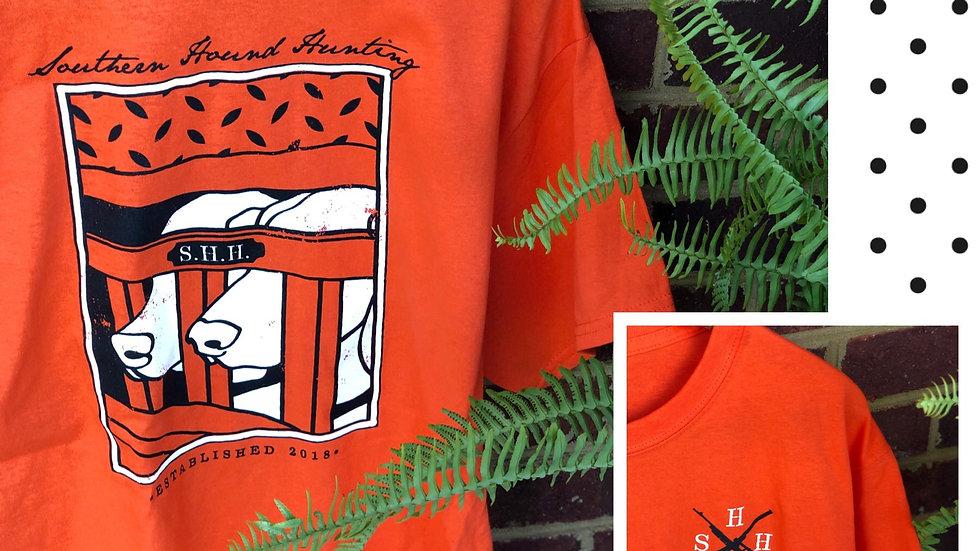 Orange SHH Dog Box Print
