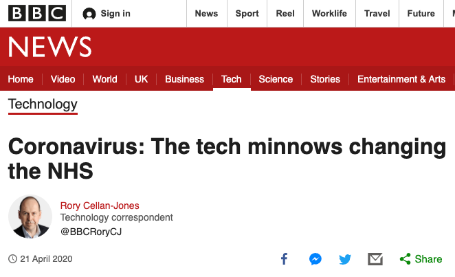BBC: The tech minnows changing the NHS 🐟