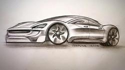 Tesla E-Concept Sedan