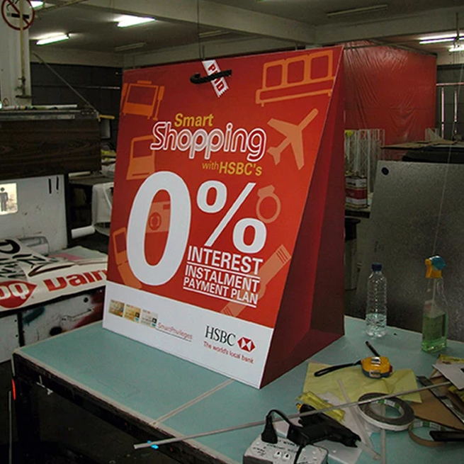 HSBC Display Standee Production