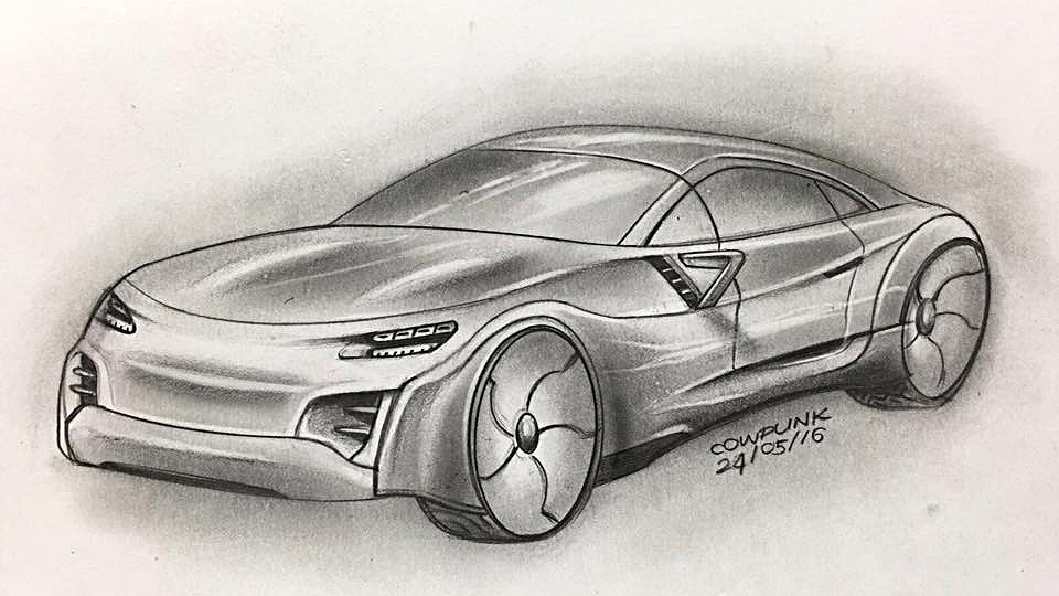 Electric Supercar Concept