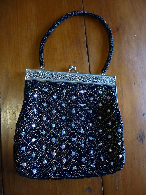 Beaded Handbag Black