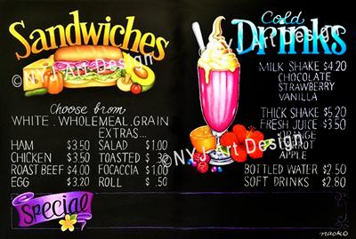 Menus: Sandwiches
