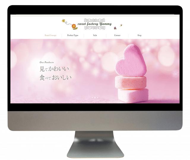 ウェブサイト、ブランディング、お菓子、website, branding, sweet