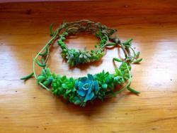 Succulent necklace and bracelet $50 set