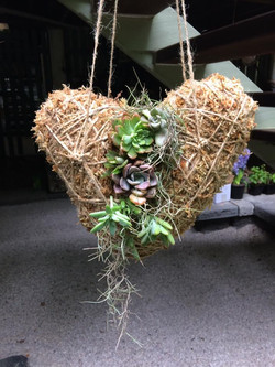 Hanging love heart $50