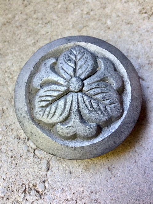 Japanese Roof Tile of Family Crest
