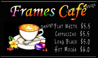 Menus: Frames Cafe