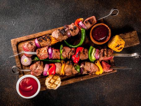 Grilled Steak Kabobs - Kabob Meat