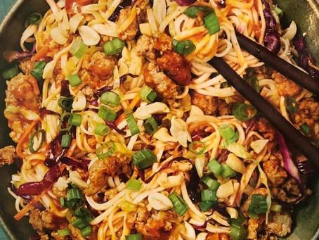 Sesame Szechuan Pork Noodles - Ground Pork
