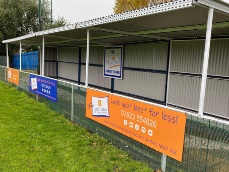 Label Traders proud Sponsors of Radford FC's Family Stand