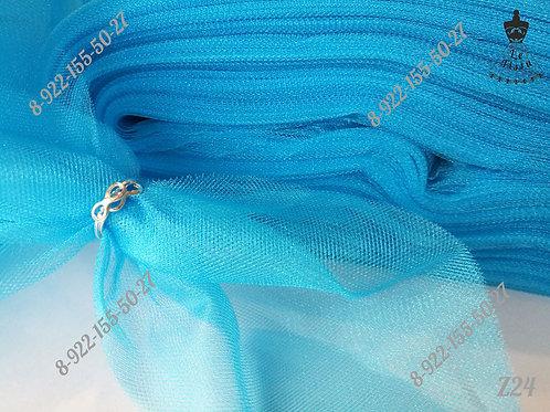 Фатин средней жесткости, ярко-голубой