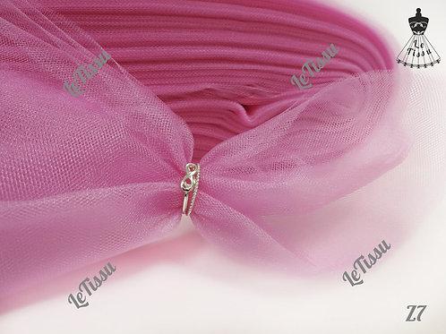Фатин средней жесткости, розовый
