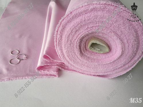 Атлас матовый, розовый