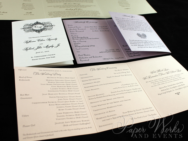Tri-Fold Wedding Programs 2 paperworksan