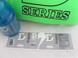 Sports Drink Bottle Label Invitation Microbead Pillow Giveaways 2 paperworksandevents.com