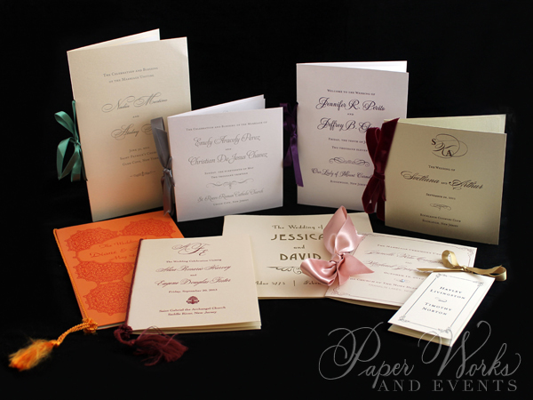 Bi-fold Wedding Programs 2 paperworksand