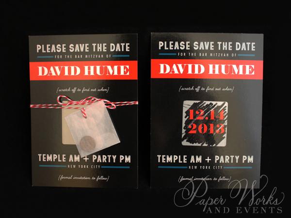 Scratch Off Save the Date Bar Mitzvah 2 paperworksandevents.com
