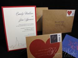 Kraft Paper New York City Wedding Invitation (6)