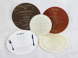 Round Event Menus Multi Sizes paperworks